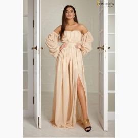 Вечернее платье со съемными рукавами
