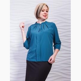 Блуза со складками по горловине, декорированная пуговицами. Арт.2290 Блуза со складками по горловине, декорированная пуговицами. Арт.2290 Блуза со складками по горловине, декорированная пуговицами. Арт.2290