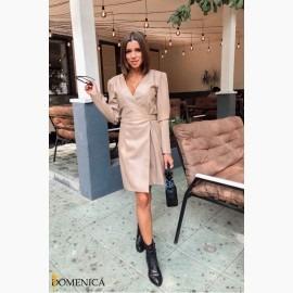 Платье из экокожи качества люкс - Р 2606