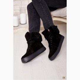Зимние ботинки GUCCI с натуральным мехом
