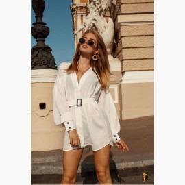 Базовая белая блуза из софта Dior