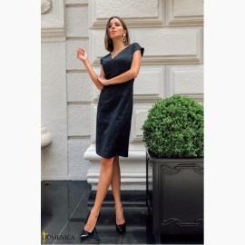 Жакардовое платье-футляр - Р 2590