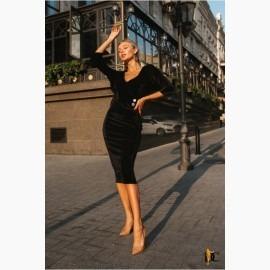 Платье из вельвета люкс качества - Р 2586
