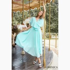 Платье шифоновое с пелериной - Р 2521