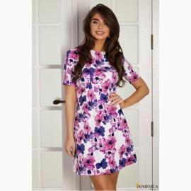 Мини-платье с коротким рукавом